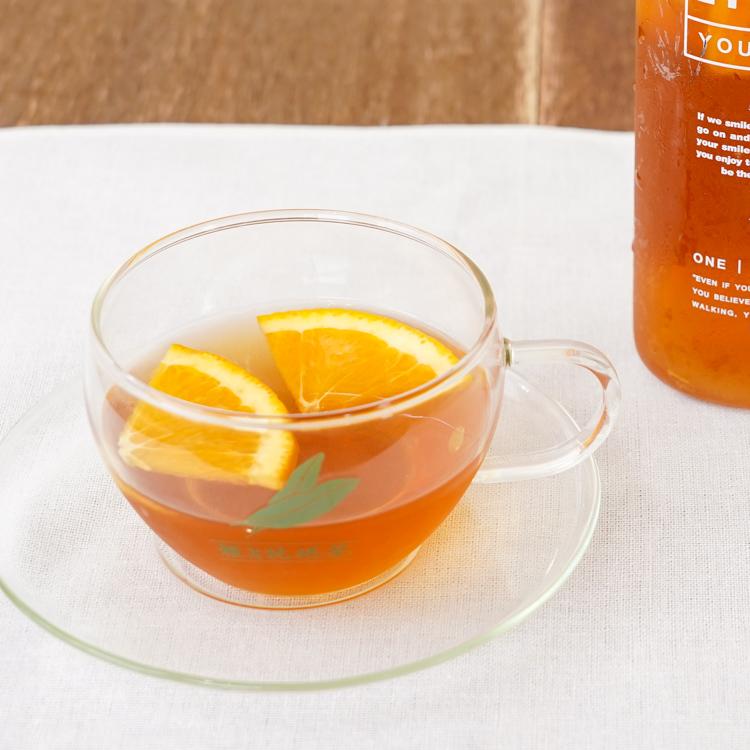 「オレンジティー」びわ茶は柑橘との相性がGOOD♪