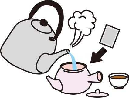 ねじめびわ茶を急須で淹れる方法